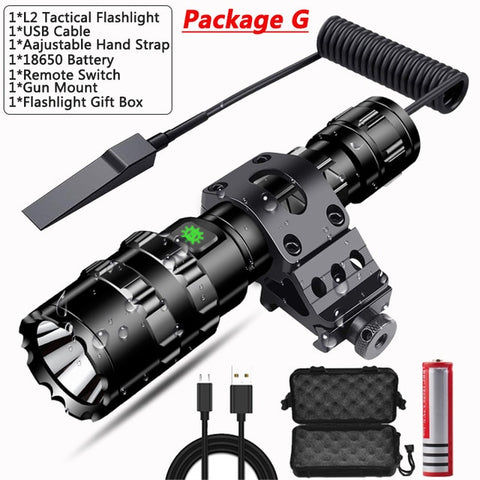 Image of PocketmanProfessional Tactical Flashlight Red/Green/ White Light