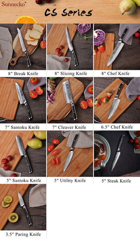 Image of Sunnecko 4pcs Steak Knife Set