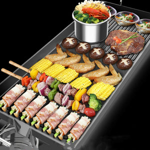 Electric Smokeless Barbecue Grill Multifunction Korean Style Hotpot