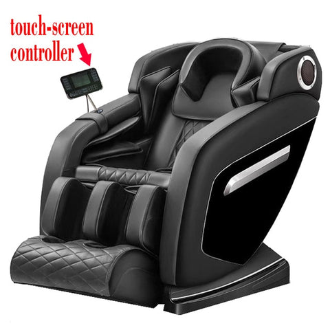 Image of Small Space Luxury Full Body Multi-functional Elderly Device Electric Cheap Large Cap Foot Wrap Deluxe Zero-gravty Massage Chair