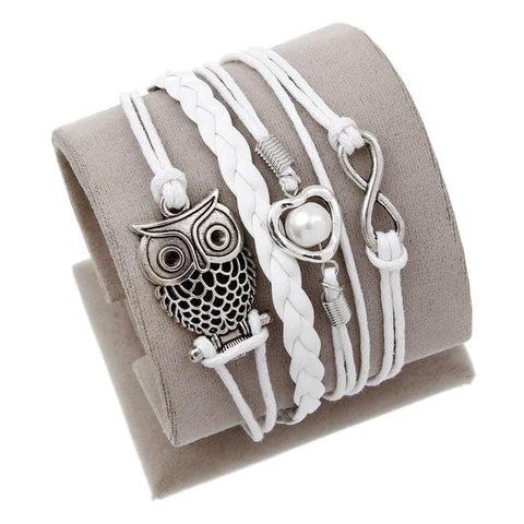 Image of Vintage Bird Owls Anchor Bracelets - Cyber Zone Online