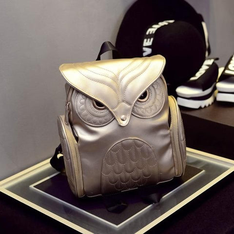 Women's Leather Owl Backpack - Cyber Zone Online