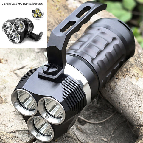 Professional Scuba Diving Flashlight 3000LM