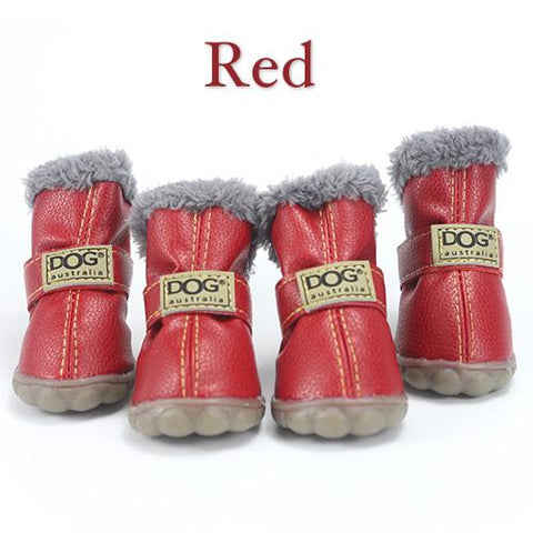 Image of Pet Dog Winter Shoes 4pcs - Warm Cotton Anti Slip Waterproof - Cyber Zone Online