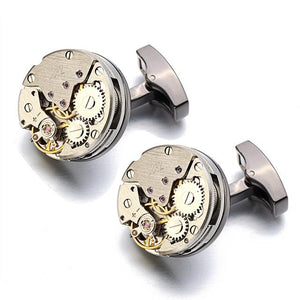 Gear Watch Mechanism Cuff Links For Men - Cyber Zone Online