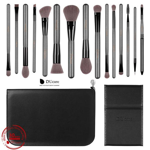 Image of Makeup Brushes Sets 15 Pcs With Bag - Cyber Zone Online