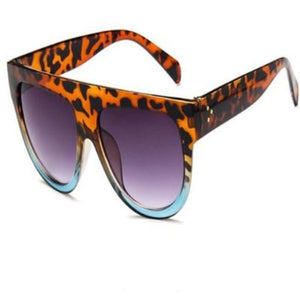 Flat Top Big Mirror Sun Glasses - Cyber Zone Online