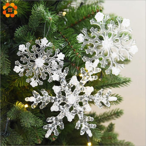 Image of Transparent Christmas Acrylic Snowflakes - Cyber Zone Online
