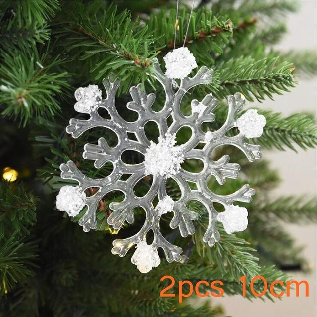 Transparent Christmas Acrylic Snowflakes - Cyber Zone Online
