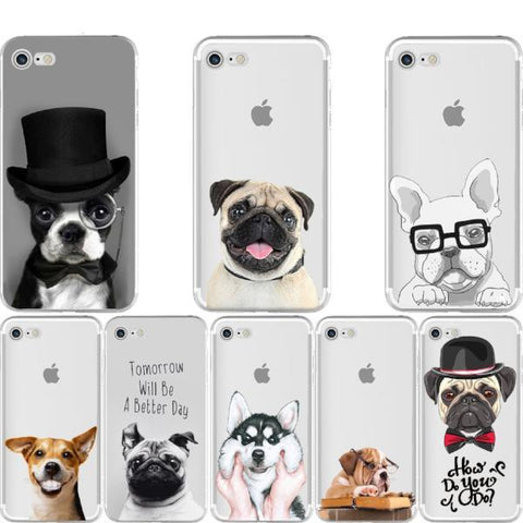 Image of Dog Pattern Soft Silicon Phone Case Cover for IPhone - Cyber Zone Online