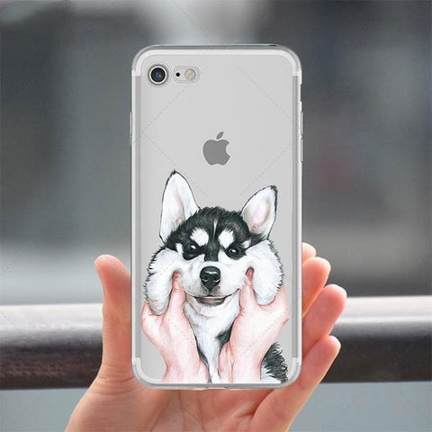 Dog Pattern Soft Silicon Phone Case Cover for IPhone - Cyber Zone Online