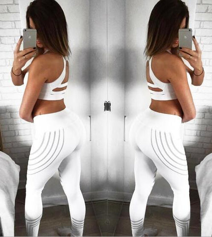 Image of Slim High Waist Elasticity Fitness Leggings - Cyber Zone Online