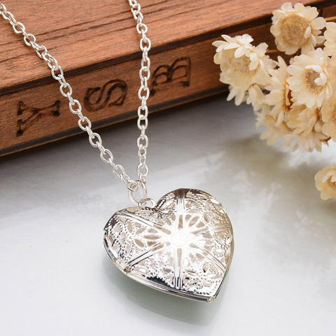 Romantic Heart Shape Pendant Necklace - Cyber Zone Online