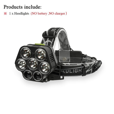 20000LM High Power 6 LED Head Torch