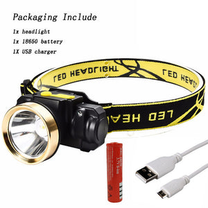 3000LM Mini Rechargeable LED Head Lamp