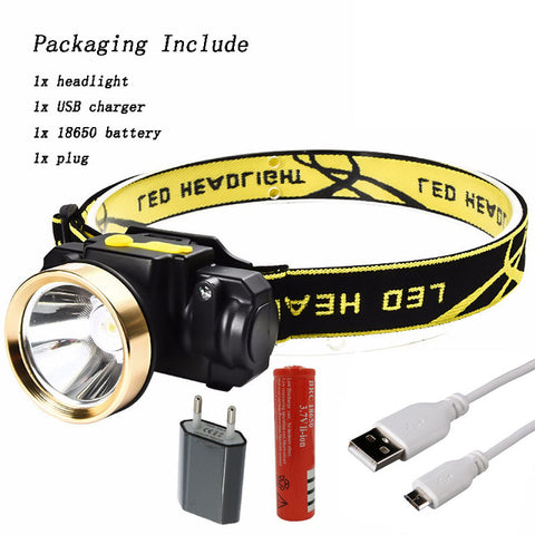 Image of 3000LM Mini Rechargeable LED Head Lamp