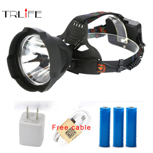 Super Bright 15000LM USB Rechargeable LED Headlamp