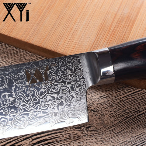 Image of XYj 73 layers VG10 Damascus Steel Santoku Knife
