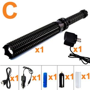 Tactical Baseball Bat LED Flashlight 9000LM