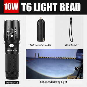 LED Flashlight 600 LM Zoomable Portable Camping Light