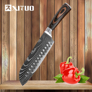 Japanese Utility Santoku High Carbon Stainless Steel