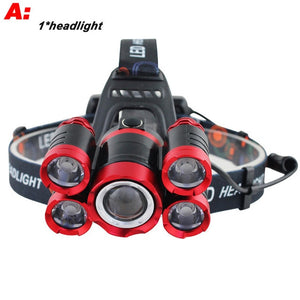 40000 Lumens Brightest LED Rechargeable Headlamp