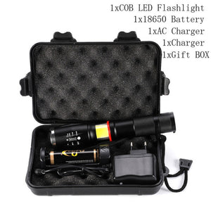 LED Tactical Flashlight 9000 Lumen Zoom 5 Modes Water Resistant