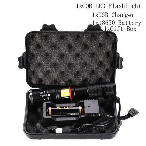Image of LED Tactical Flashlight 9000 Lumen Zoom 5 Modes Water Resistant