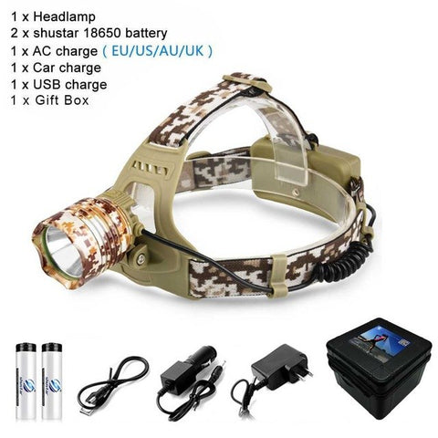 Image of Camouflage Led Headlamp 8000LM