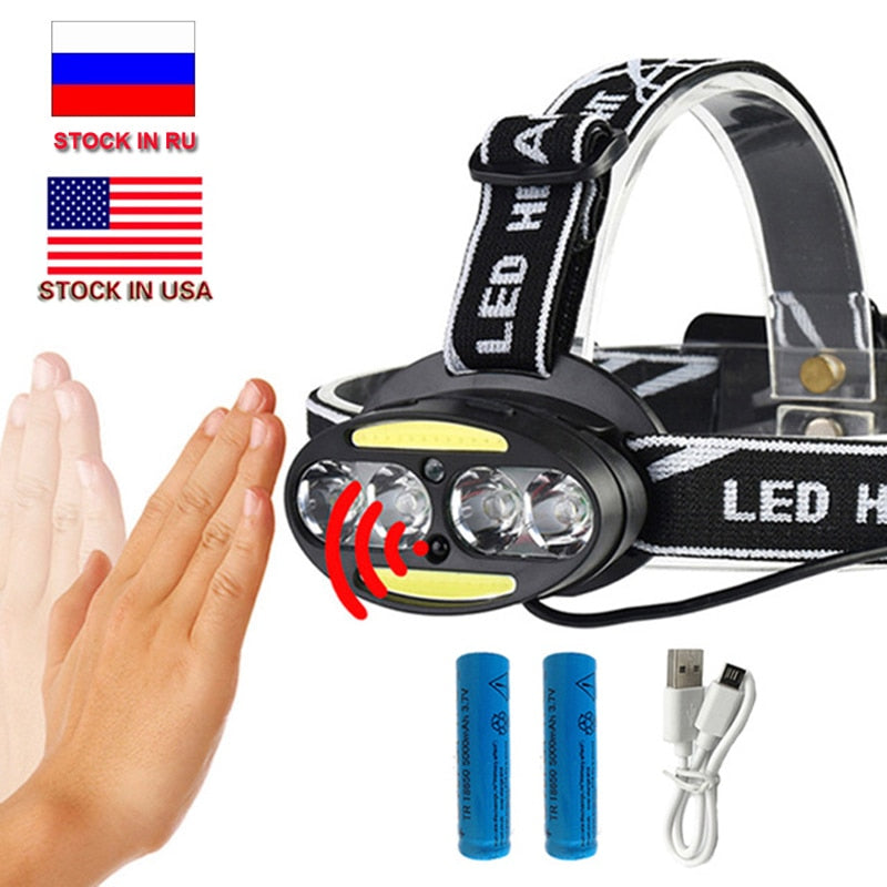 10000LM LED Head Lamp