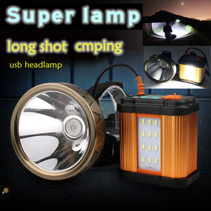 USB LED Rechargeable Outdoor Spotlight Headlight