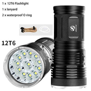 High Power LED flashlight 30000 Lumens
