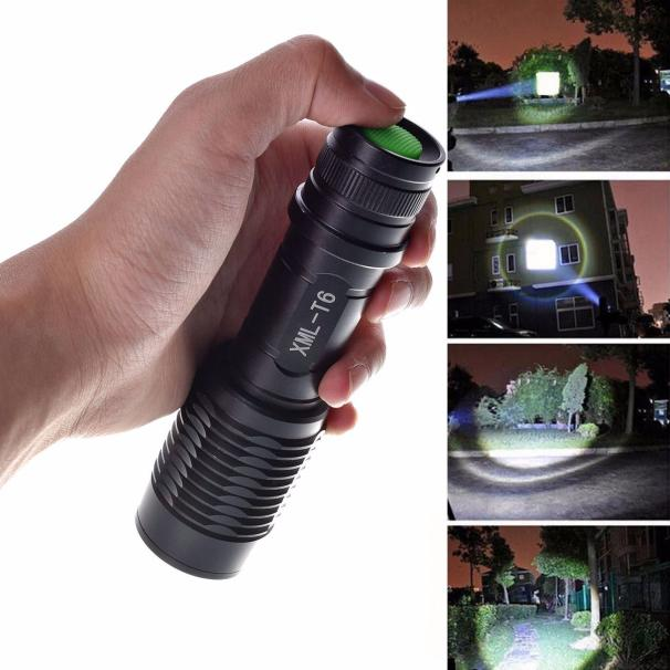 4000LM Zoomable LED Torch Flashlight