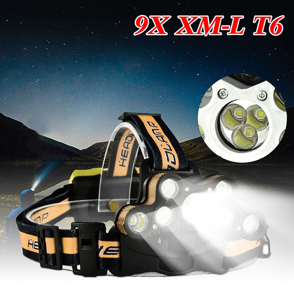 45000 LM LED Rechargeable Headlamp