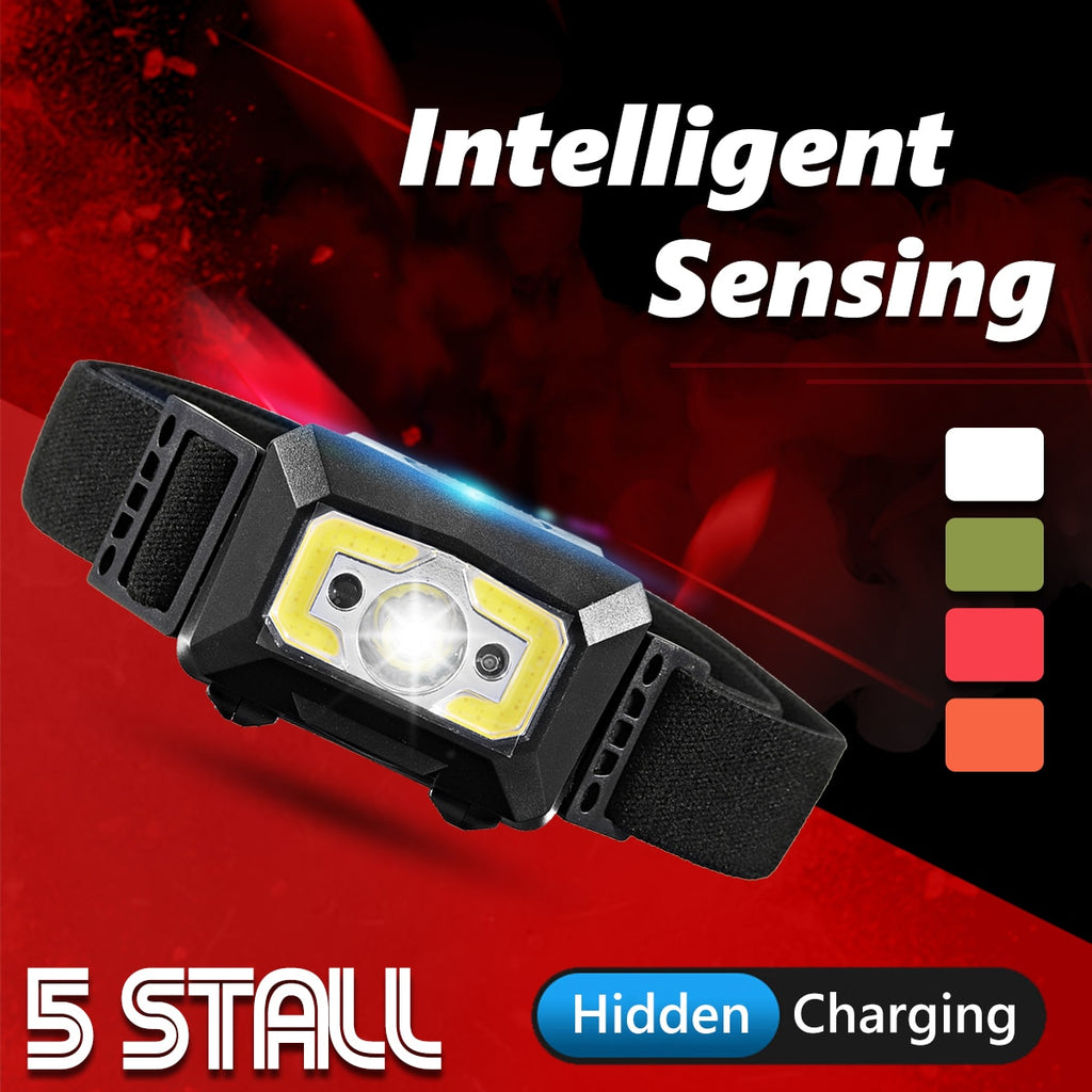 5000lm Motion Sensor Head Lamp