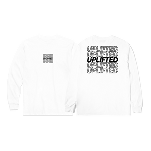 OUTLINE LONG SLEEVE TEE WHT