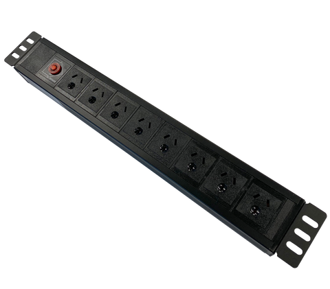 1.5RU 8 way GPO Horizontal PDU Power Rail
