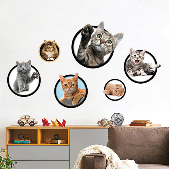 Cat Painting Combination Wall Stickers