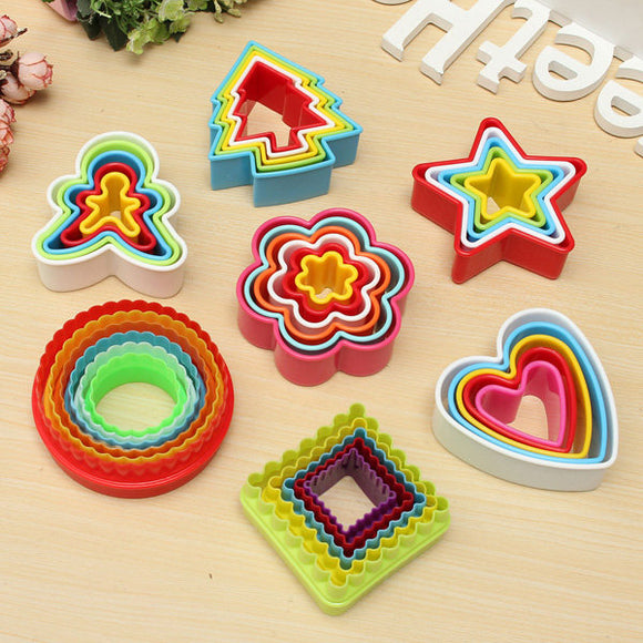 Star Frill Flower Christmas Tree Heart Shape Cookie Cutter Cake Baking Mold