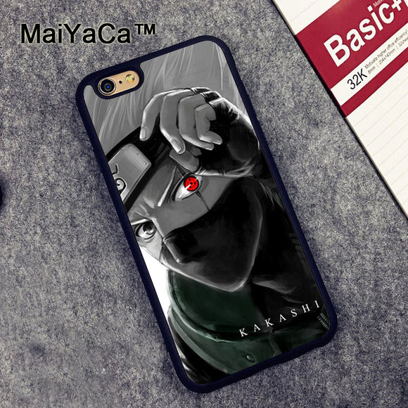 MaiYaCa Naruto Kakashi Printed Mobile Phone Cases For iPhone 6 6S Plus 7 7 Plus 5 5S 5C SE 4S