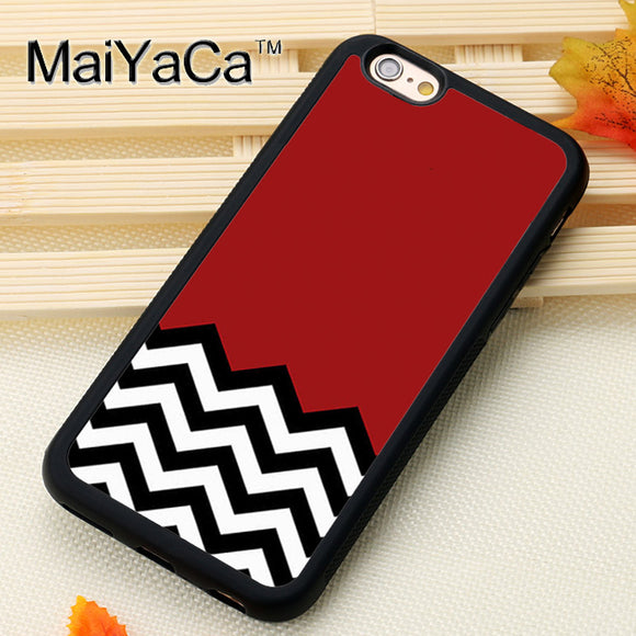 Twin Peaks Chevron Pattern Print Soft TPU Skin For iPhone 6 6S Plus 7 7 Plus 5 5S SE