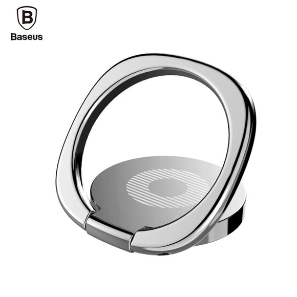 Original Baseus Universal magnetic Phone Holder 360 Rotate Luxury Aluminum Alloy Finger Ring stand Bracket with retail Box