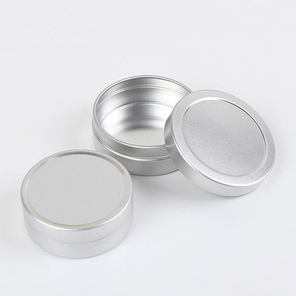 10ML/20ML Empty Silver Aluminum Bottle Face Cream Lip Balm Cosmetic Container - TriggerKart