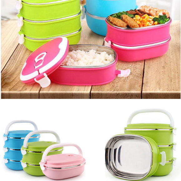 1/2/3layers Stainless Steel Insulated Lunch Box - TriggerKart