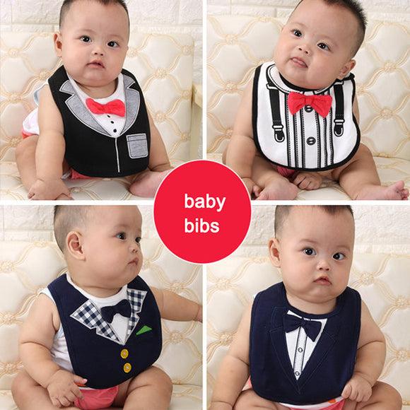 Fashion Gentleman Baby Bibs