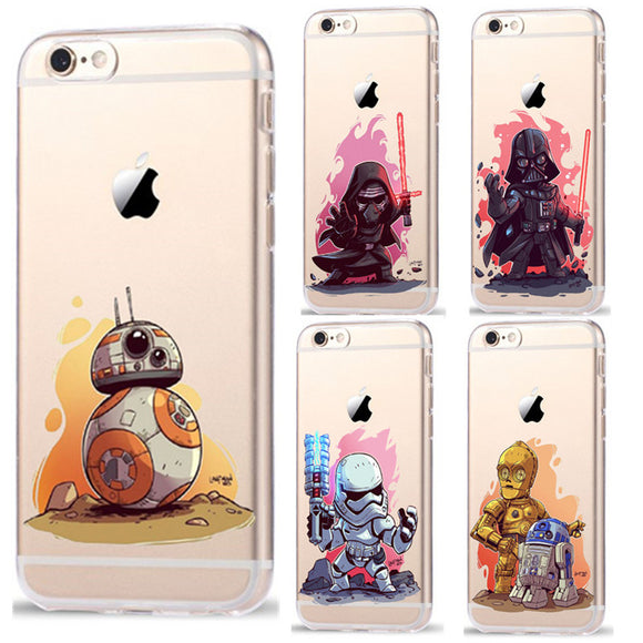 Star Wars Characters KyloRen BB-8 Phone Cases For Apple iPhone 8 7 6 6S Plus X 5 5S SE