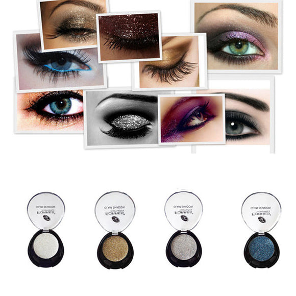 Single Glitter Eyeshadow Palette Pearl Bright Sparkling Shimmer Eye Shadow Cream Makeup