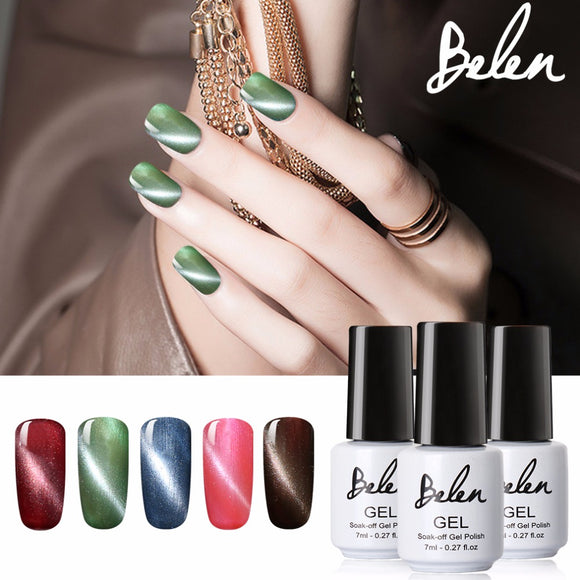 Belen Cat's-Eye Gel LED Nail Polish UV Base Coat Magnet Effect - TriggerKart