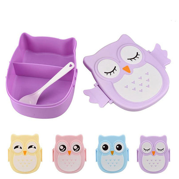 900ml Cute Owl Lunch Box Food Fruit Storage Container Portable Bento Box Picnic