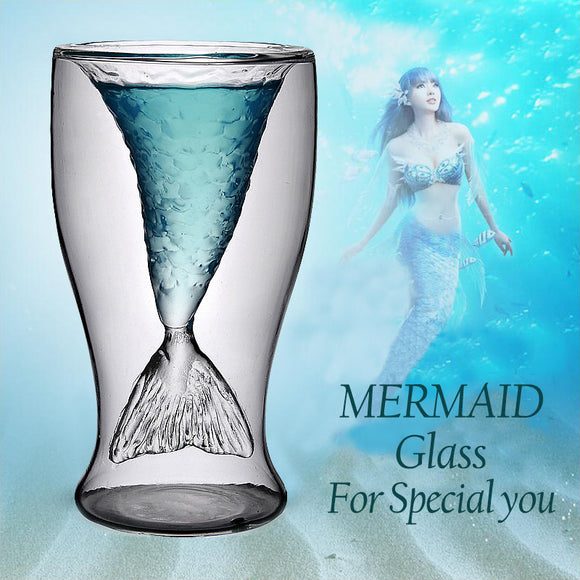 Unique Double Mermaid Beer Glass Mug